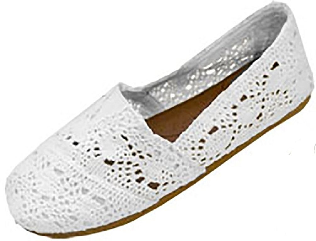 crochet shoes amazon.com | shoes8teen shoes 18 womens canvas crochet slip on shoes flats zlqsdxv