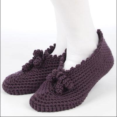crochet slipper patterns pretty pleats qxwuwiq