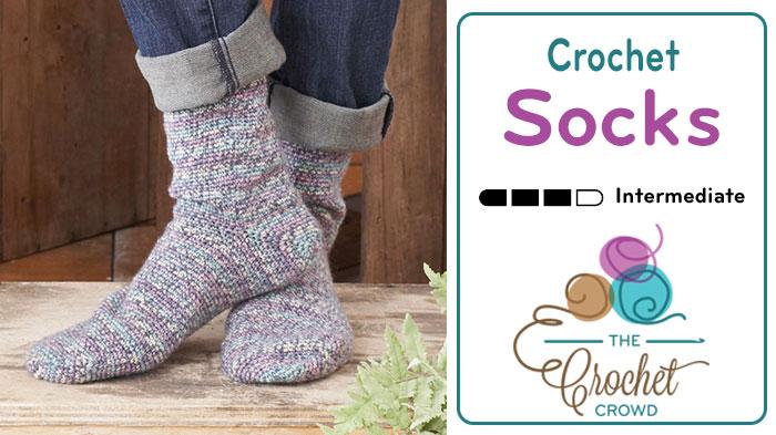crochet socks pattern + tutorial mivnnce