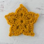 Ornate crochet star pattern on Fabrics