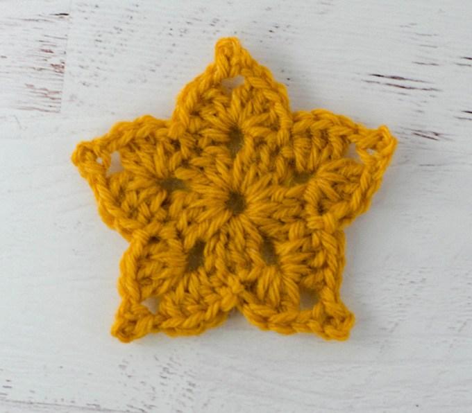 Ornate crochet star pattern on Fabrics