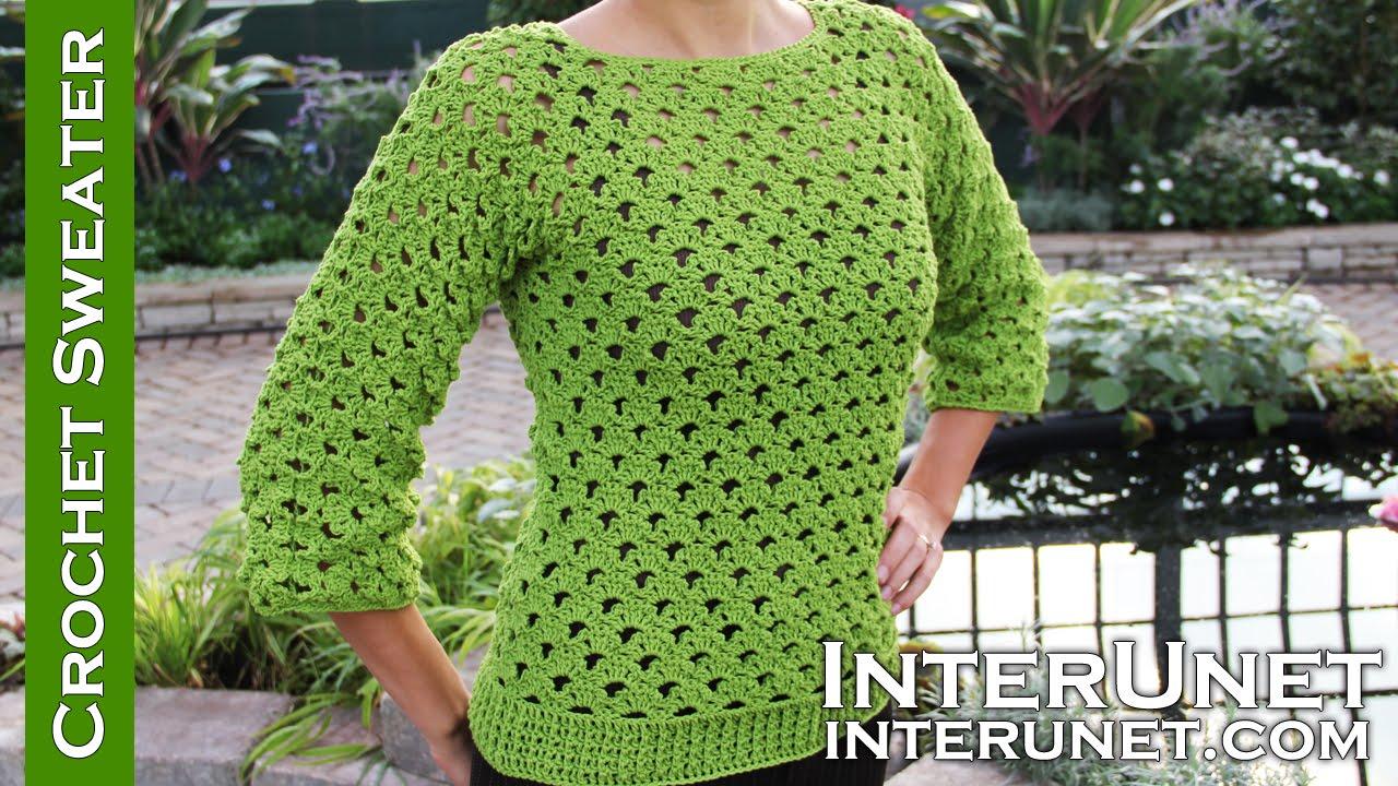 crochet sweater lace sweater crochet pattern - youtube jqvvxyg