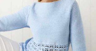 crochet sweater patterns blue heaven top etxvdrq