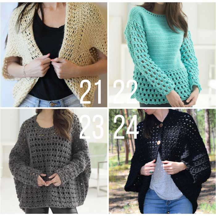 crochet sweater patterns free crochet pullover sweater patterns. these cardigans, shrugs and sweaters  are easy sncbxif
