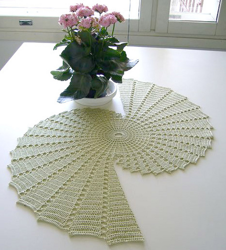 crochet table runner there is no pattern available. the lady who posted it said that she ckdvlbj