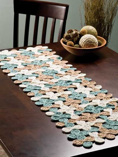 Crochet table runner – Make A Bare Table Look
