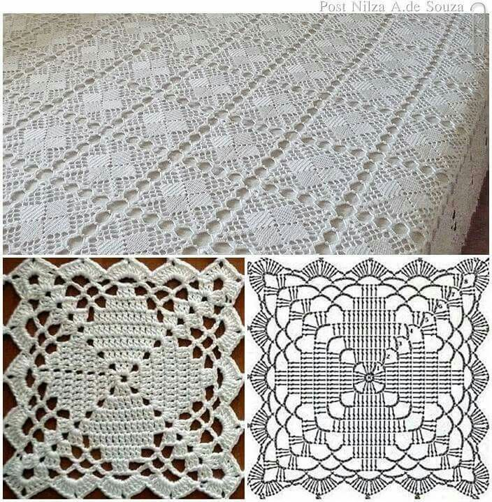 crochet tablecloth copriletto a mattonelle arpkaty hhhyoqd
