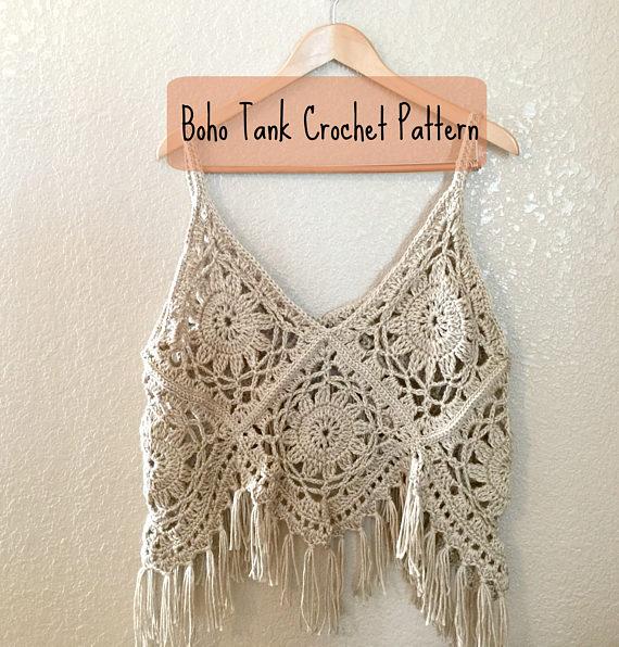 crochet tank top boho tank crochet pattern - crochet top pattern - boho tank top - avcnlpt