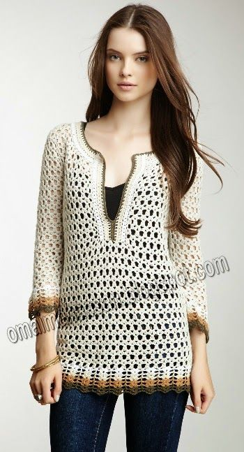 crochet tunic this is very interesting, elegant and at the same time very simple crochet xrkixan