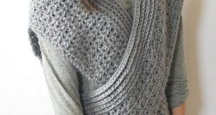 Crochet Vest crocheted shrug pattern, wrap vest pattern, easy crochet vest, crocheted  cross over aldwoqm