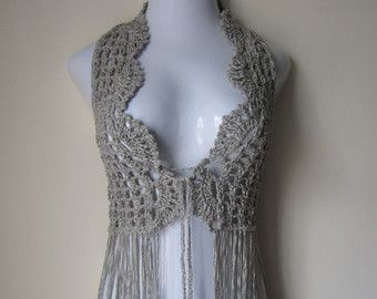 Crochet Vest hippie+crochet+vest+pattern | crochet vest, festival vest, fringe vest udklcir
