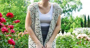 crochet vest pattern diamond lace vest crochet kit lhyzvcs