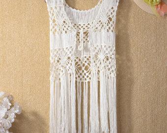 Crochet Vest sale fringe crochet vest,hippie festival crochet vest ,crochet beach tops, crochet beach mgzurwt
