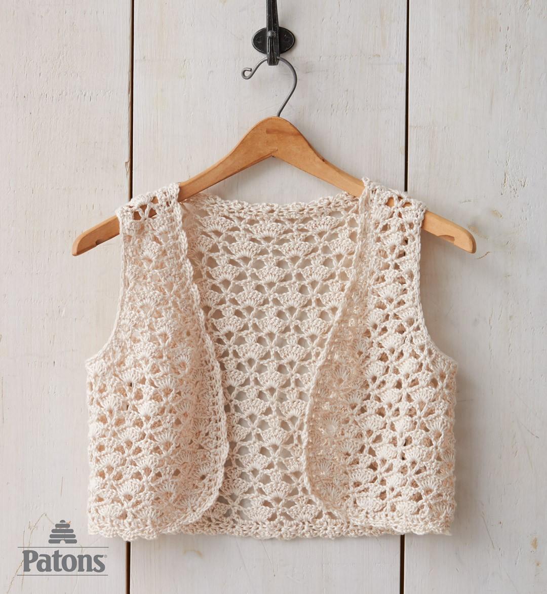 Crochet Vest seashell crochet vest mtahztu