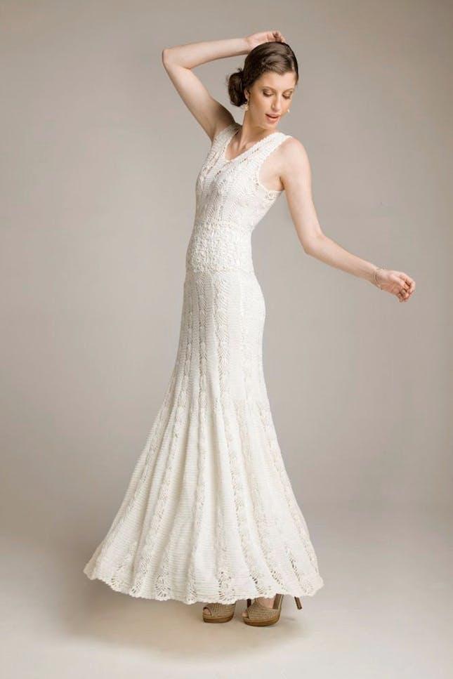 crochet wedding dress 15 wedding dresses you wonu0027t believe are crocheted | brit + co aeuwjzd