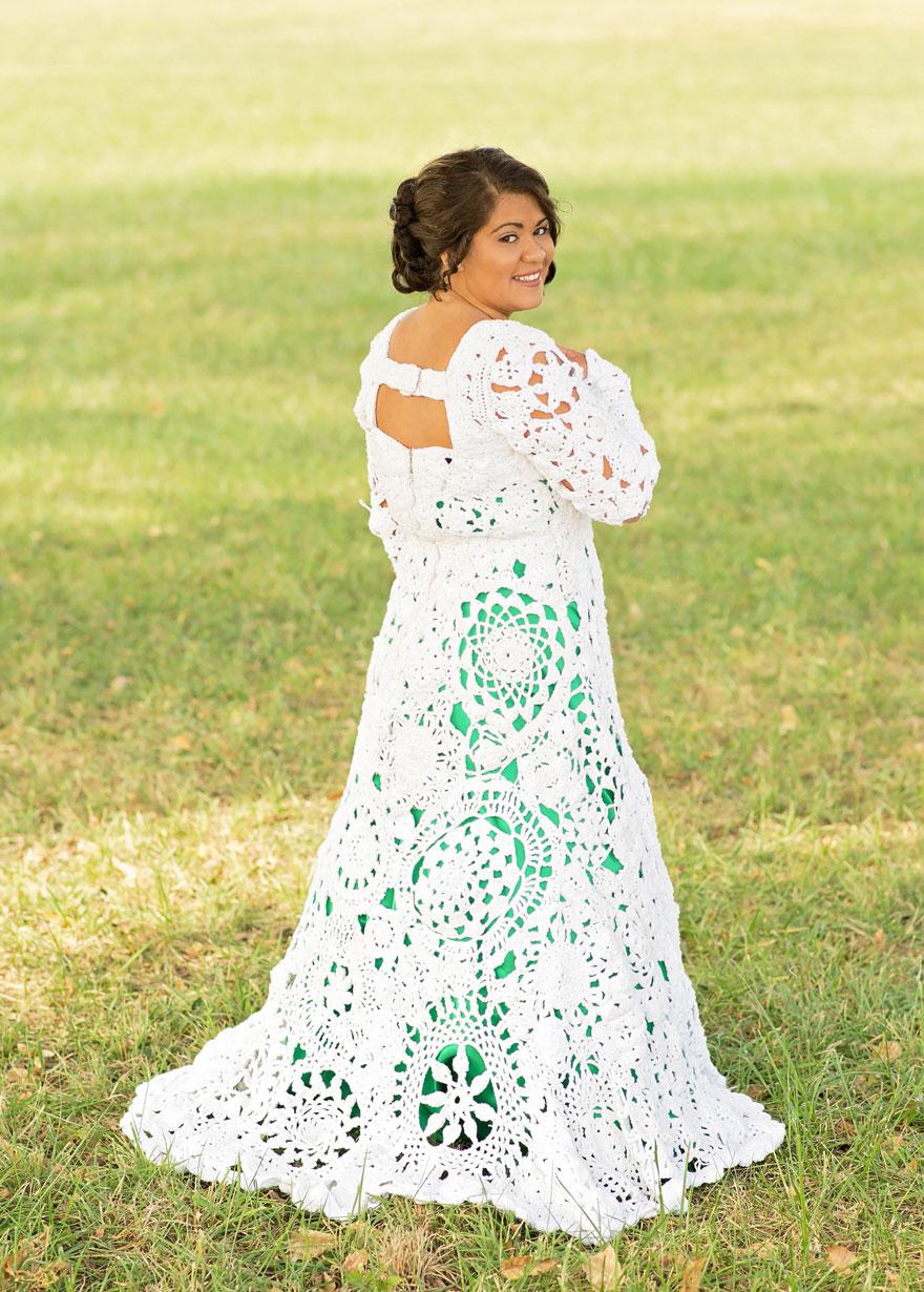 crochet wedding dress crocheted-wedding-dress-handmade-gown-6 numfrxy