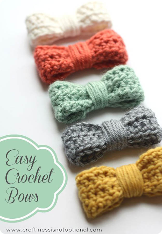 Crocheting For Beginners easy crochet bows | 17 amazing crochet patterns for beginners cmhoomd