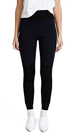 diane von furstenberg womenu0027s knit leggings, black/alexander navy, small wjxqdin