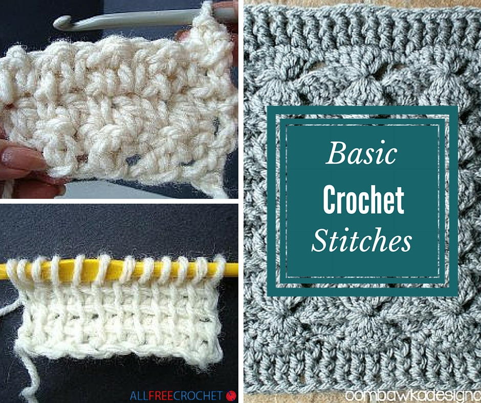 different crochet stitches 20+ basic crochet stitches | allfreecrochet.com oegptlu