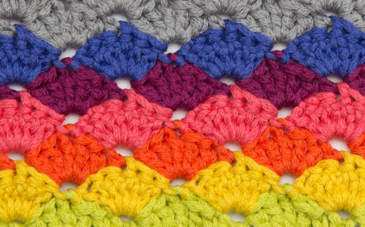 different crochet stitches shell stitch phlqney