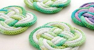 diy rope coaster with french knitting mypoppet.com.au mvgisfn