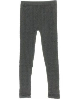 dream star girls big kid cable knit leggings, size: 7-16, charcoal ffulynd