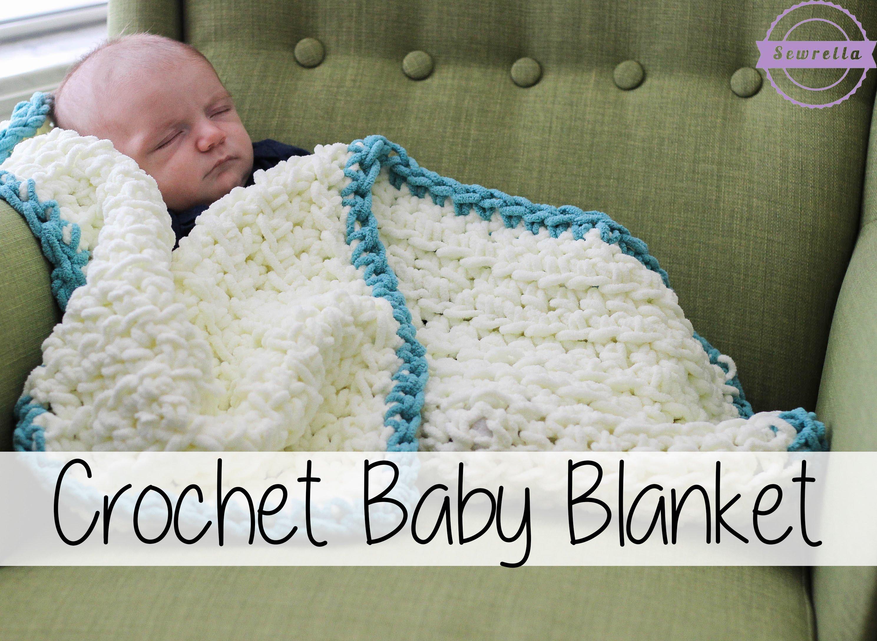 easy crochet baby blanket easy beginner crochet baby blanket | sewrella ipxsxvb