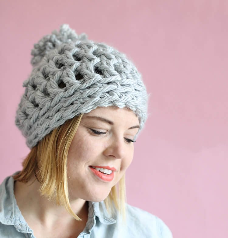 easy crochet hat easy chunky crochet beanie - a 30 minute hat! free pattern from persia sweukbv