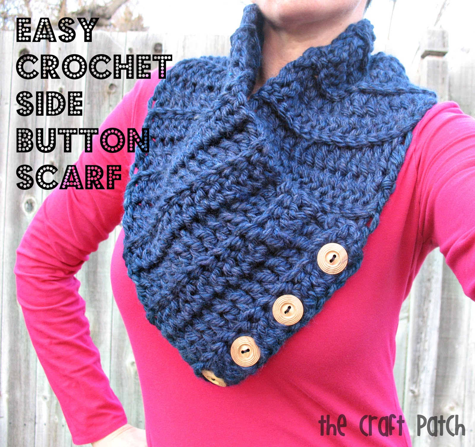 easy crochet scarf easy crochet side button scarf rdyqvgp