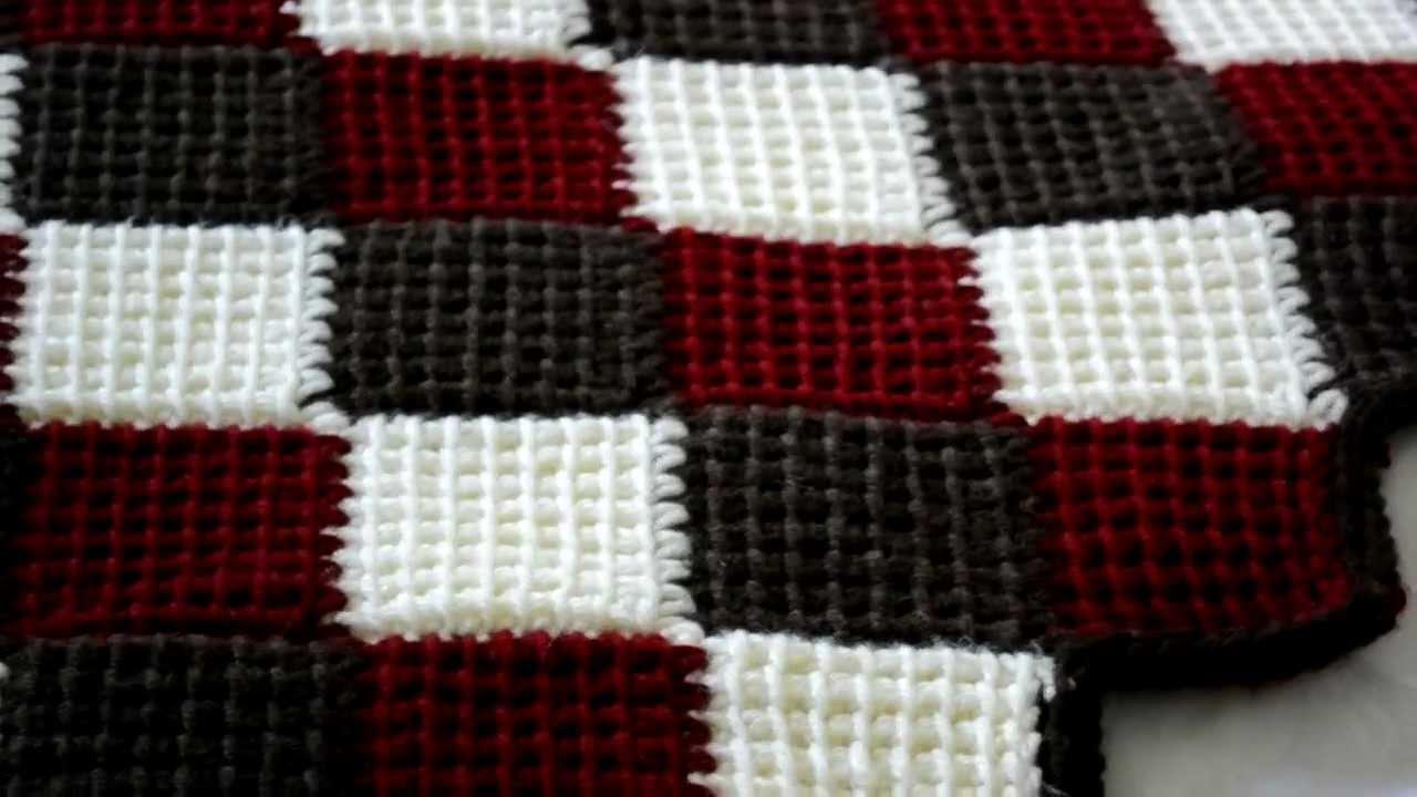 entrelac crochet blanket i made using the entrelac/tunisian stitch - youtube yvppndi