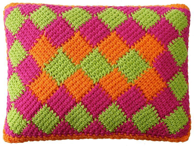 entrelac crochet can be worked in two or more colors. nbfltqa
