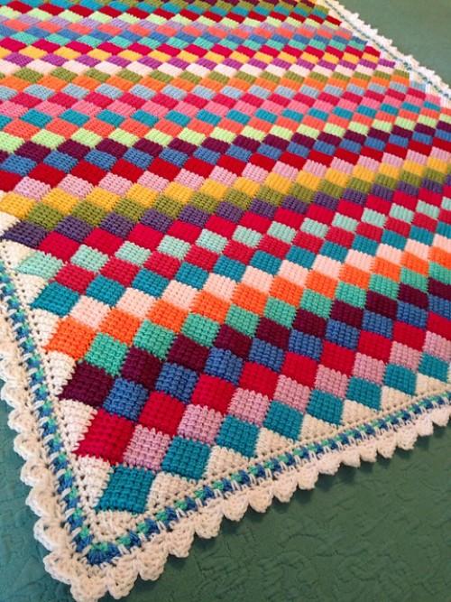 entrelac crochet tunisian crochet entrelac patterns gzmayeb