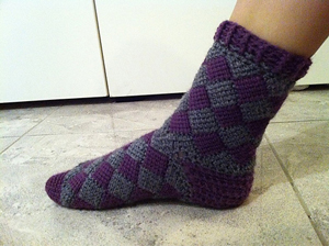 entrelac sock - free crochet sock pattern ncqynct