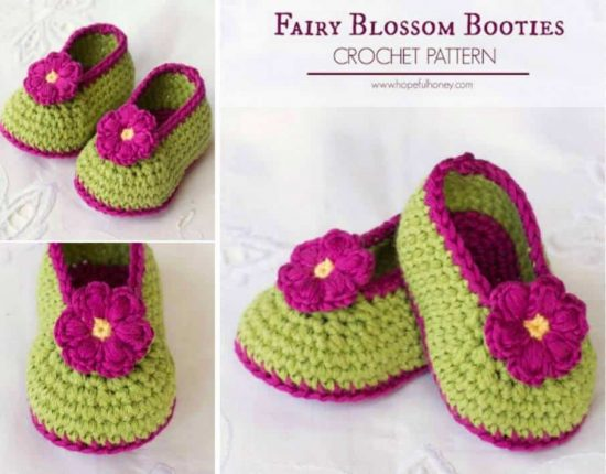fairy blossom crochet booties free pattern vfotdrj