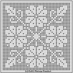 filet crochet patterns free pattern flower square in
