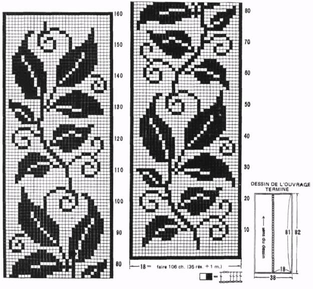 filet crochet patterns of the rug leaves kiyhxqa