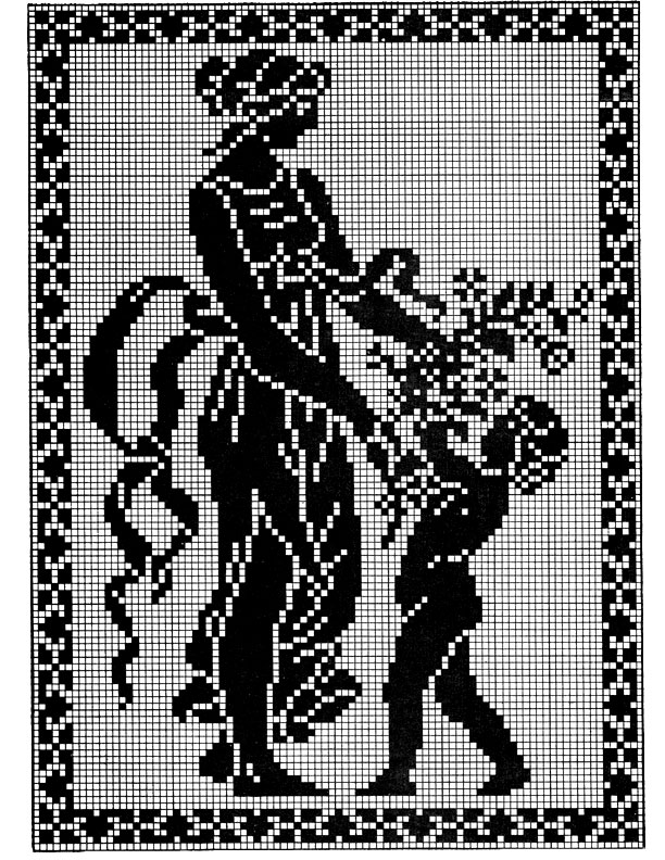 filet crochet patterns spring filet crochet graph hgvlhko