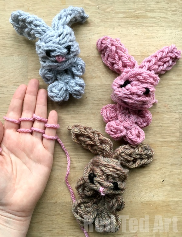 Finger Knitting easy finger knitting bunny diy - oh-my-cuteness!!! how darling fnwqfil