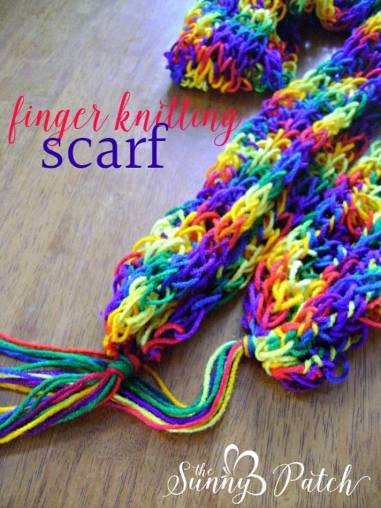 Finger Knitting finger knitted scarf vkumhfk