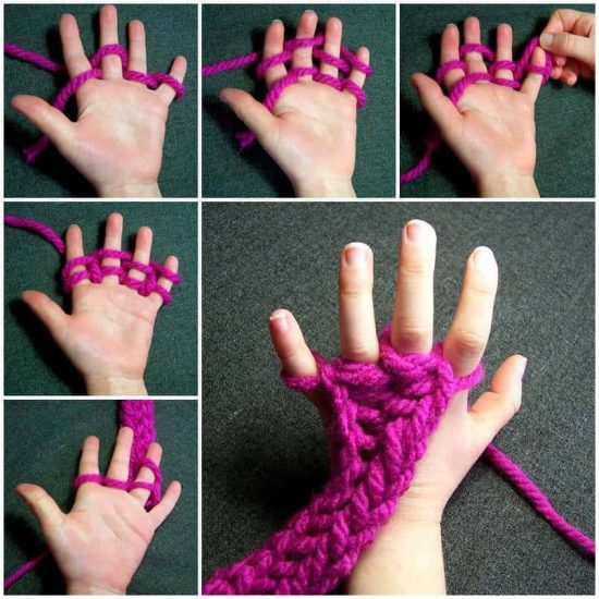 Finger Knitting finger knitting instructions txjvjfu