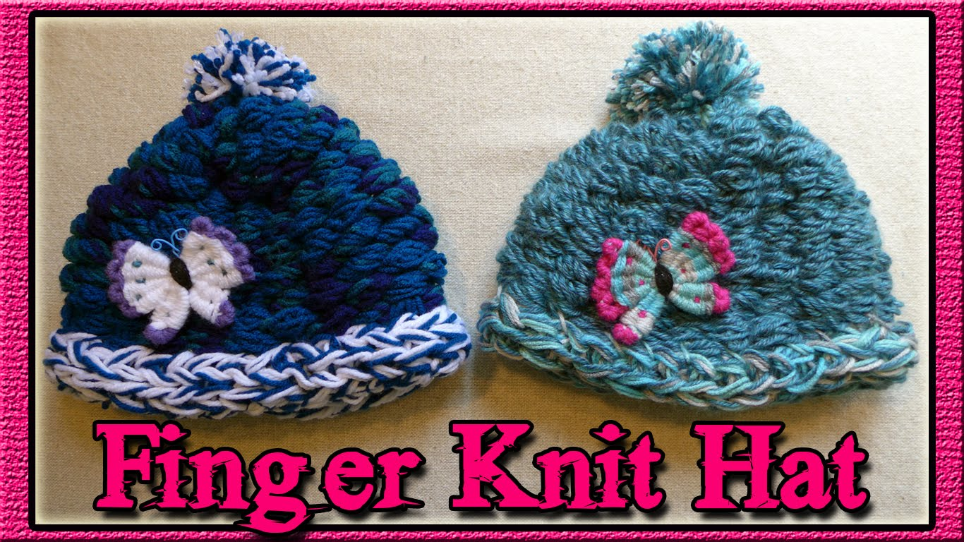 Finger Knitting how to finger knit a hat - youtube fgwpdue