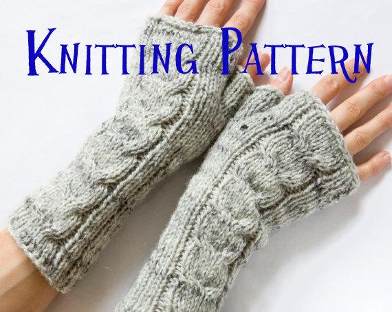 fingerless gloves knitting pattern instant download pdf knitting