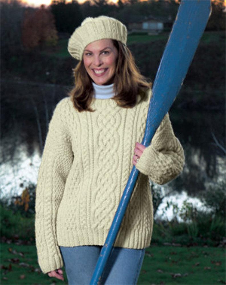 free aran knitting patterns knitted aran sweater in lion brand fishermenu0027s wool - 1101a | knitting lyjvrqh