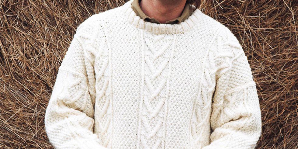 free aran knitting patterns manu0027s aran jumper to knit rwsmaym