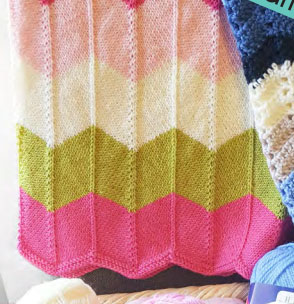 free baby blanket knitting patterns knitted chevron blanket for baby free pattern surajmy