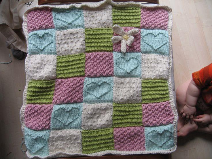 free baby blanket knitting patterns yarrrrn: pattern - textured blocks baby blanket free knit and purl pattern fxnicdd