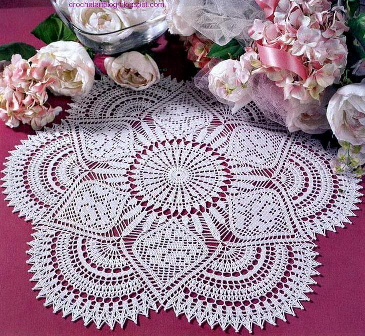 free crochet doily patterns crochet art: crochet doily pattern free - royal style tablecloth: you need vusaymr