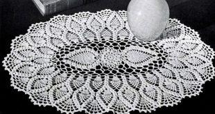 free crochet doily patterns oval pineapple doily pattern
