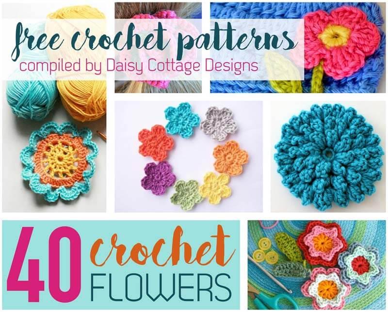 free crochet flower patterns crochet flower pattern collection: 40 free crochet patterns bggtxob