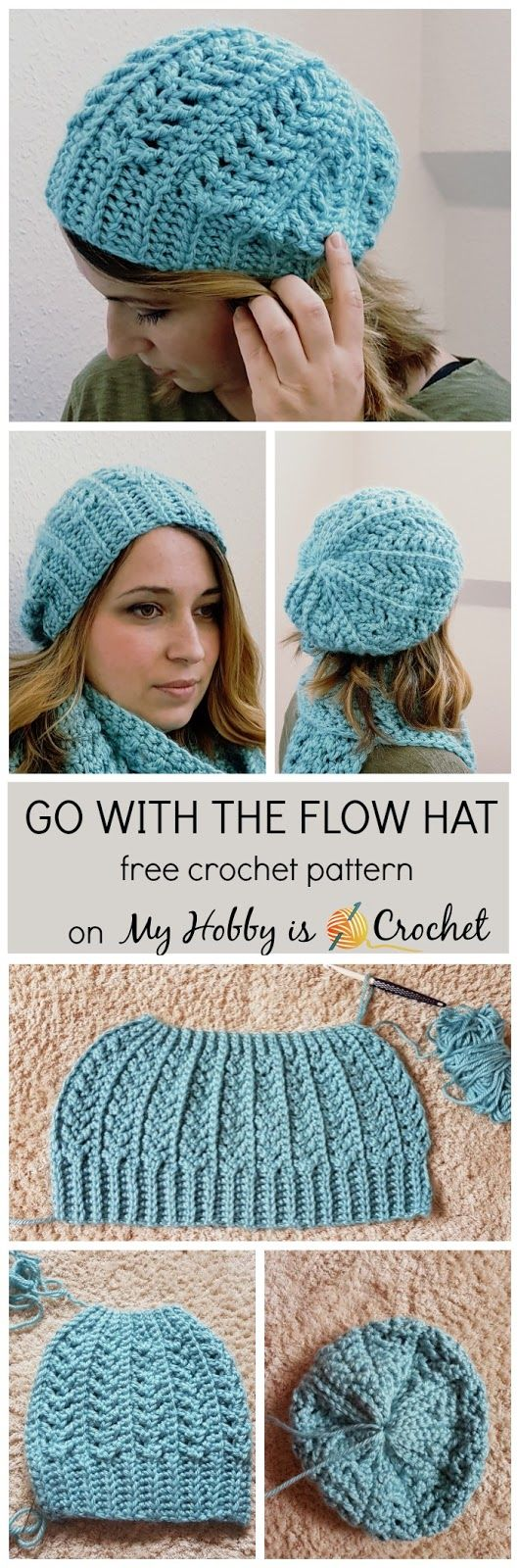 free crochet hat patterns go with the flow hat - free crochet pattern on myhobbyiscrochet.com hqypbgi
